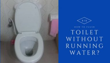 how to flush toilet without running water