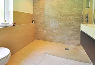 frameless shower door for smaller bathroom
